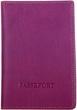 Кожаная обложка для паспорта Katana k988056 фиолетовый